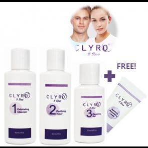 CLYRO 3 STEP SKINCARE + FREE Moisturiser