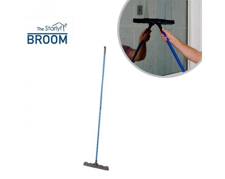 Starlyf Broom - Rubber bristle broom