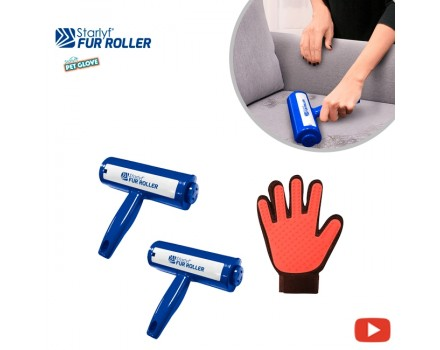 Starlyf Fur Roller 2x1 & Pet Glove