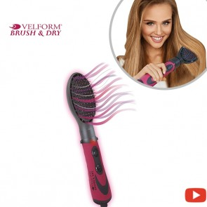 Velform Brush & Dry - Straightening hair brush