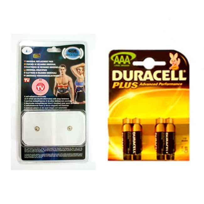Replacement pads and duracell batteries